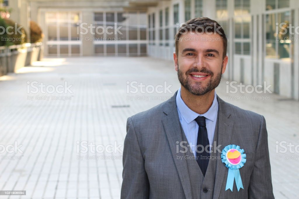 The employee of the month stock photo