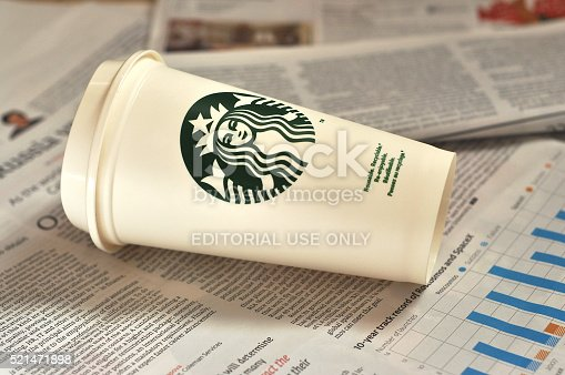 istock The empty cup from Starbucks cafe 521471898