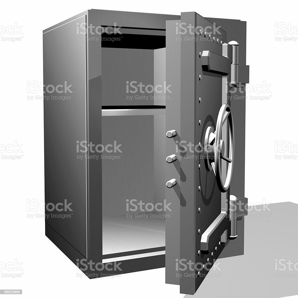 The empty safe royalty-free stock photo