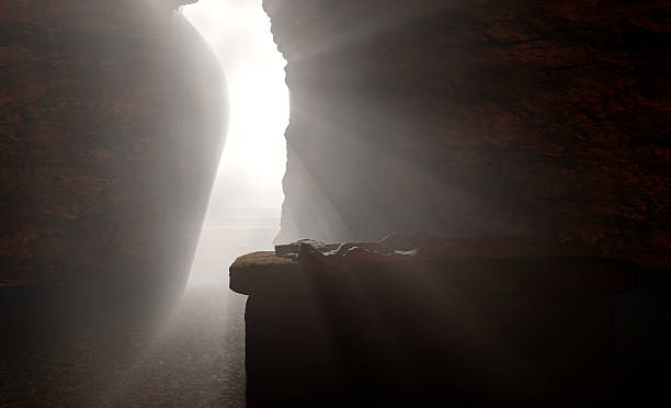 The Empty Tomb of Jesus stock photo