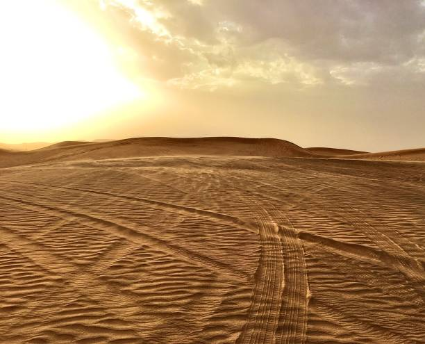 The empty UAE desert. stock photo