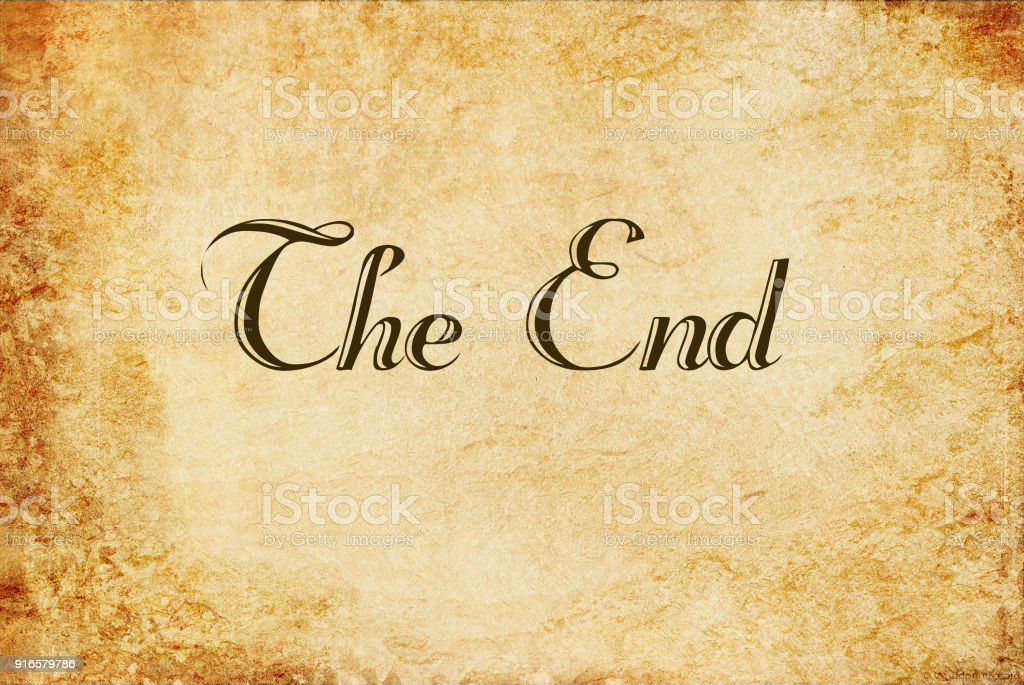 The End Handwritten On Old Vintage Paper Stock Photo - Download Image Now -  iStock