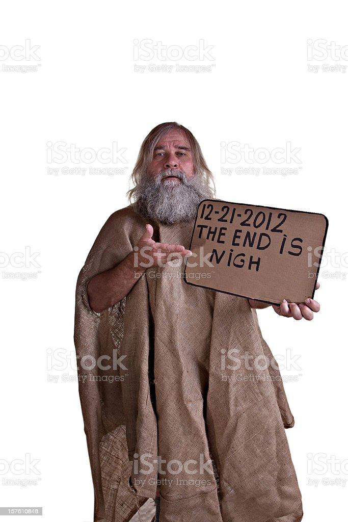 The End Is Nigh stock photo