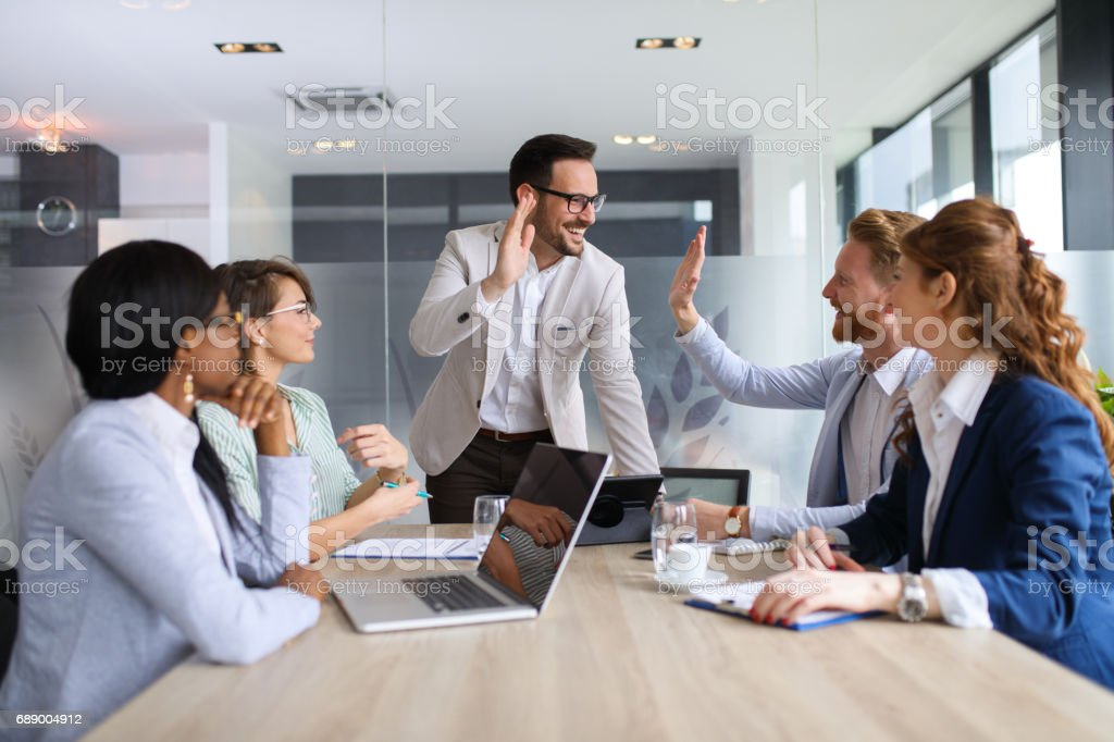 The end of a successful meeting royalty-free stock photo