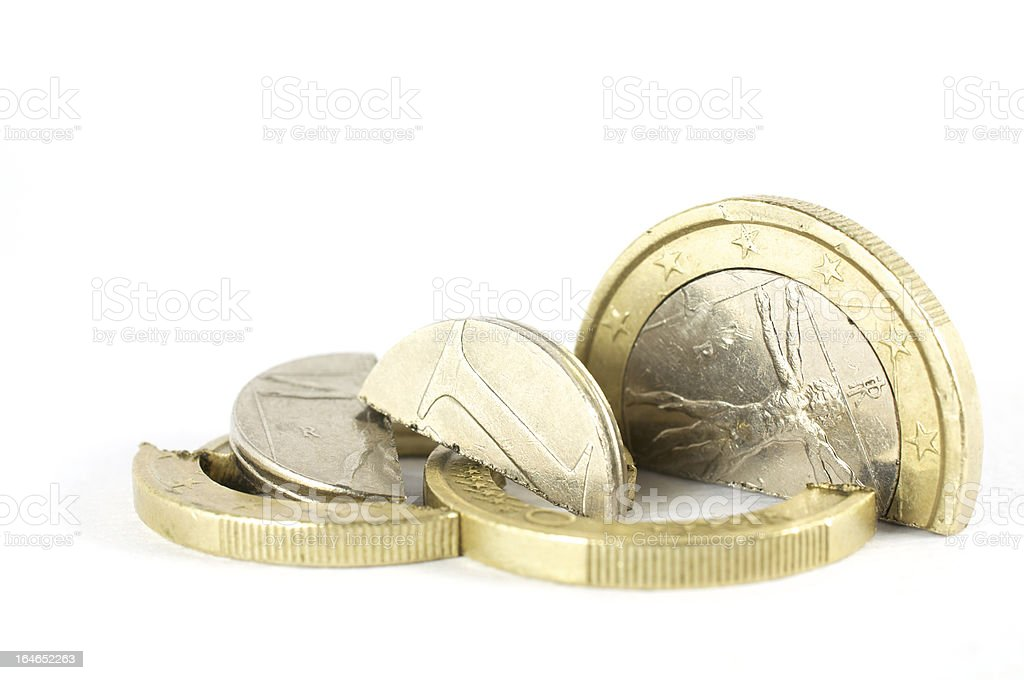 the end of euro royalty-free stock photo