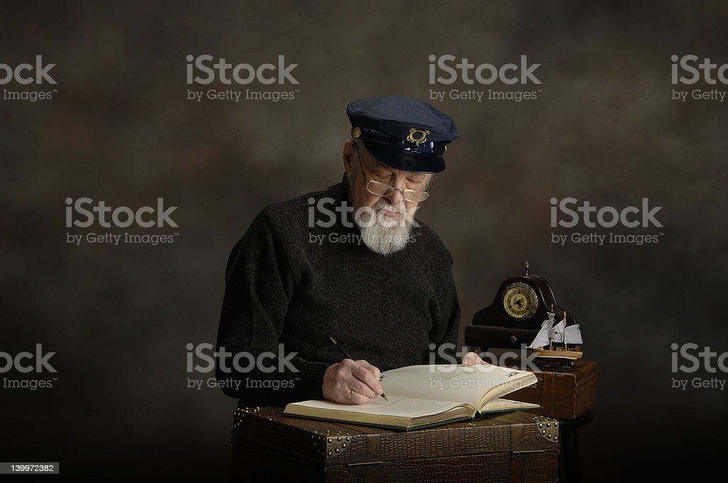 The End of His Journey. stock photo