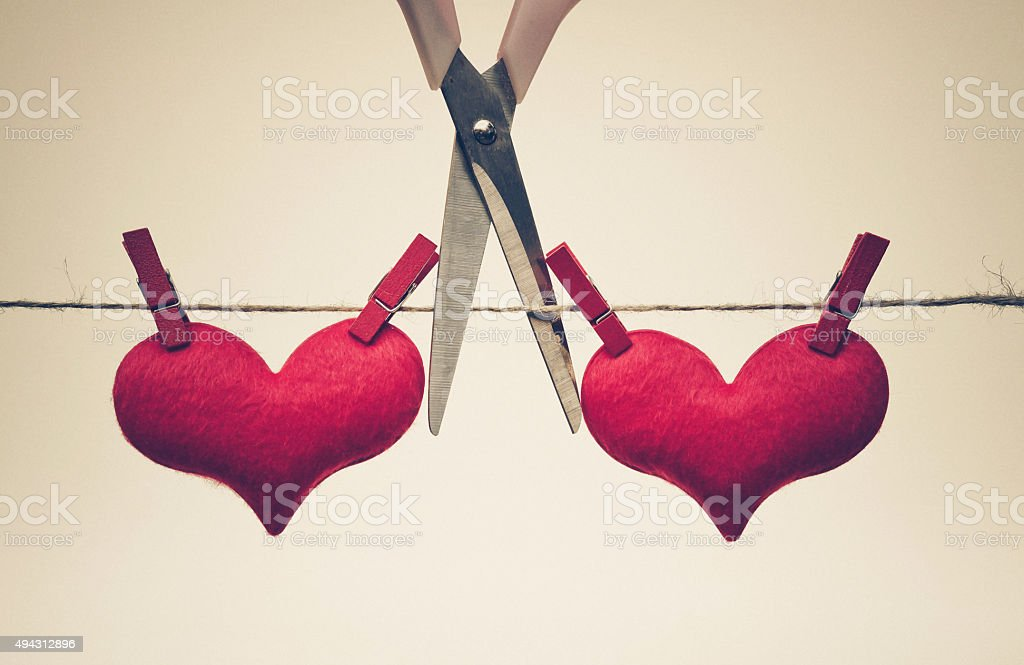 The end of love stock photo