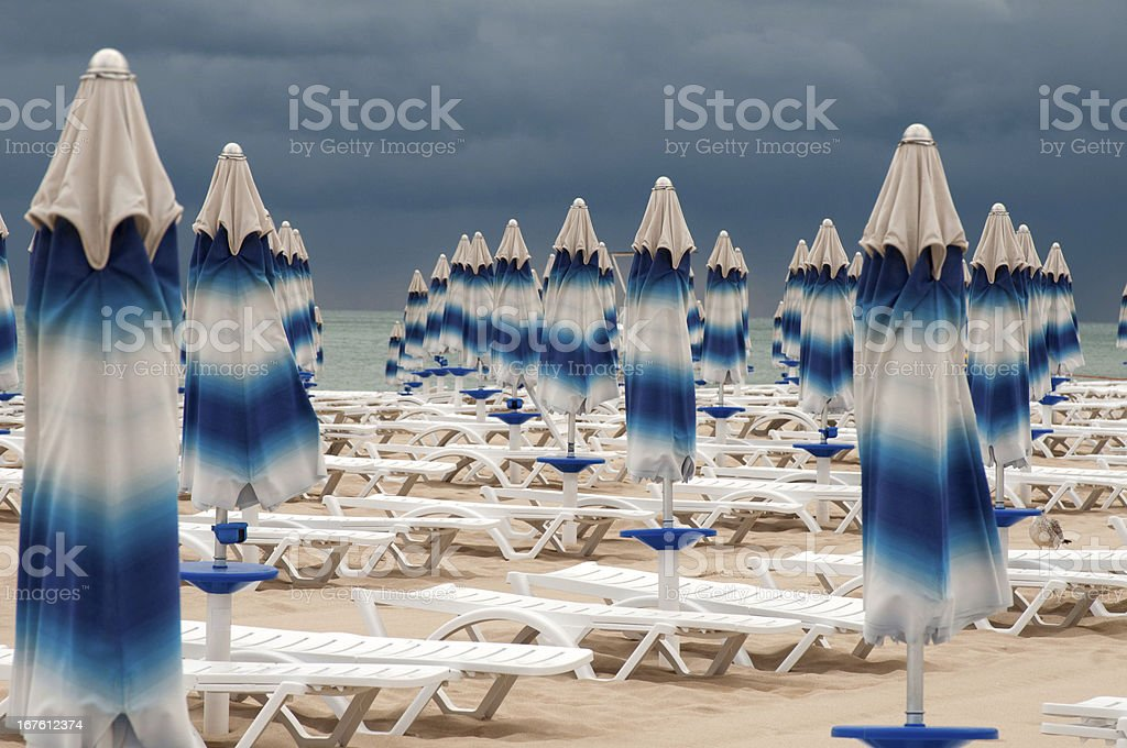 the end of summer and beach royalty-free stock photo