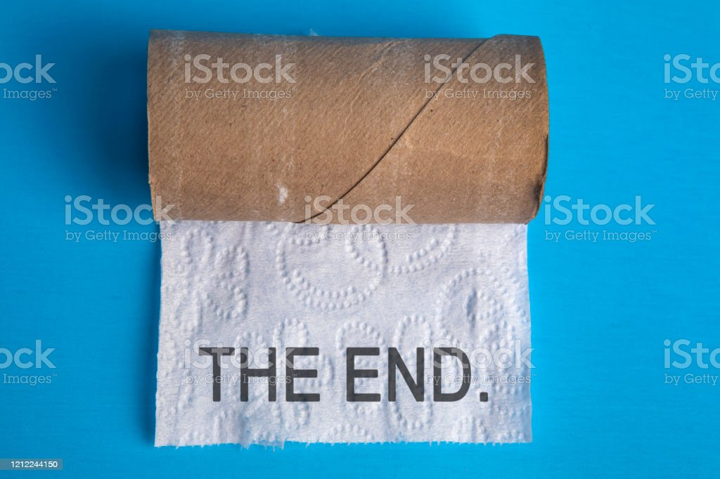 The End of Toilet Paper - Foto stock royalty-free di Bagno