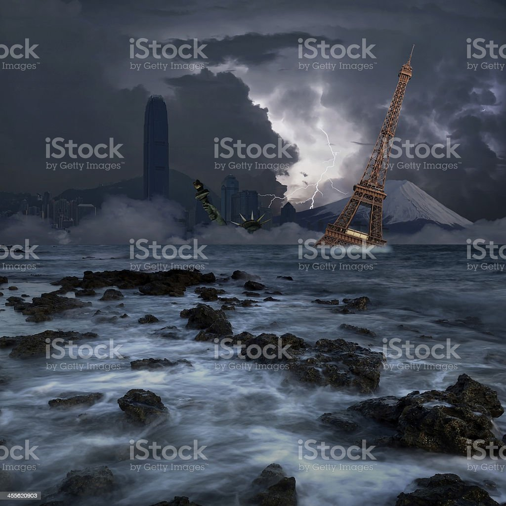 The end of world stock photo