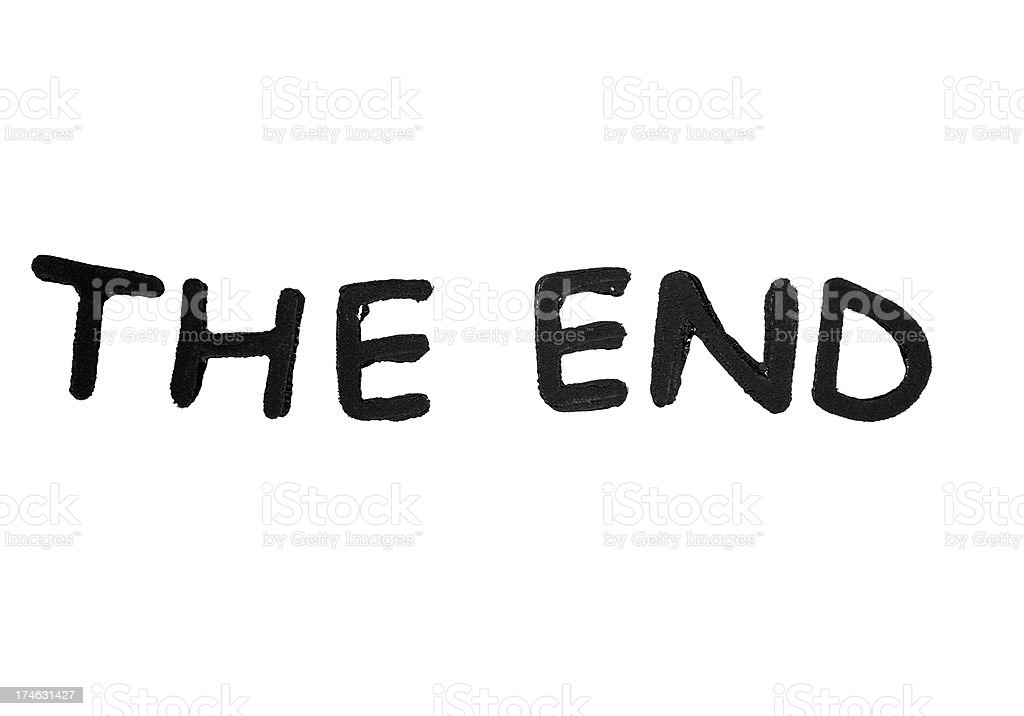 The end royalty-free stock photo