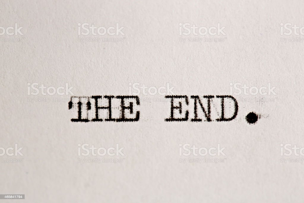 The end stock photo