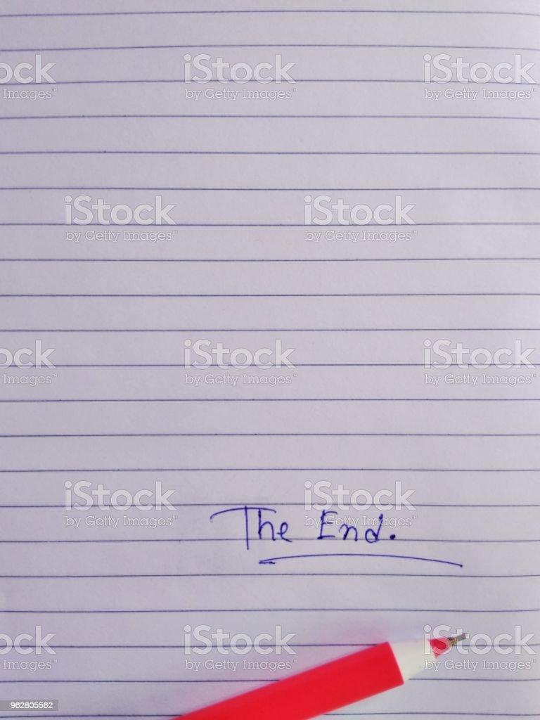 The end - Foto stock royalty-free di Composizione verticale