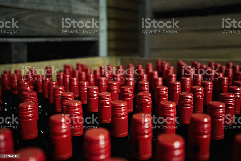 The end product - Winemaking royalty-free stock photo