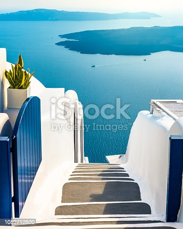 istock The endless blue of Santorini Greece, Traditional Greek island, luxury holiday 1052712520