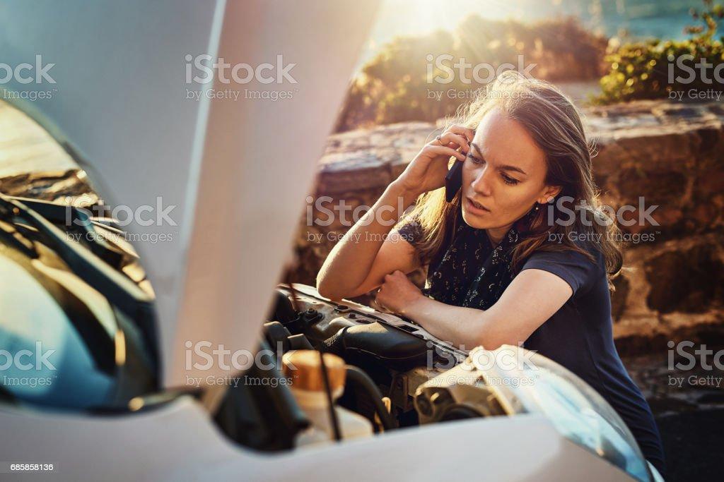 The engine just won't start stock photo