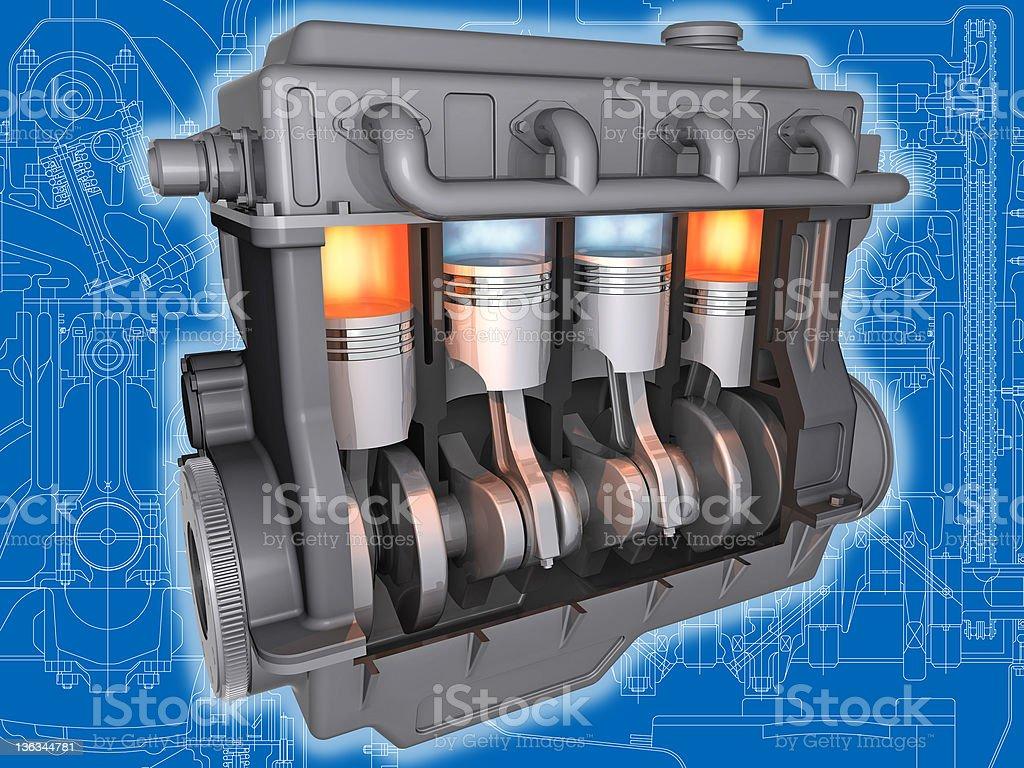 The engine. stock photo