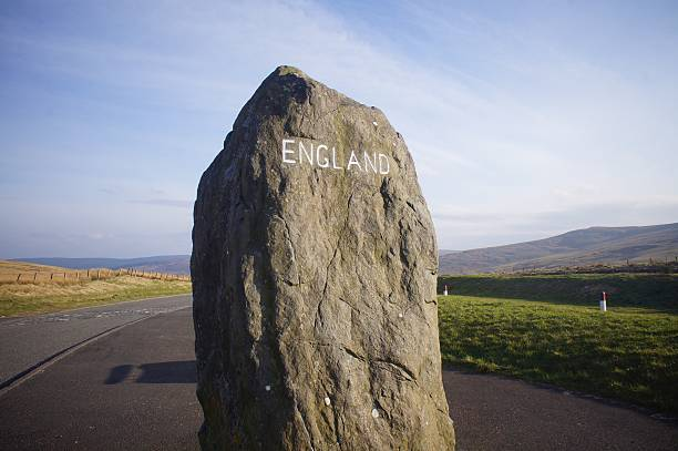 The England Border Monument stock photo
