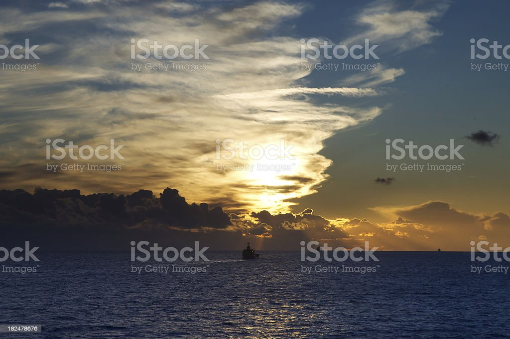 The English Channel royalty-free stock photo