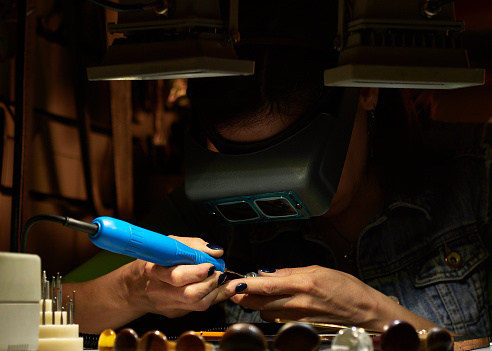 Foto de O Gravador Aguça O Apego Do Gravador e mais fotos de stock de Antigo