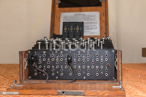 857874170 istock photo The Enigma Cipher Coding Machine from World War II 853330668