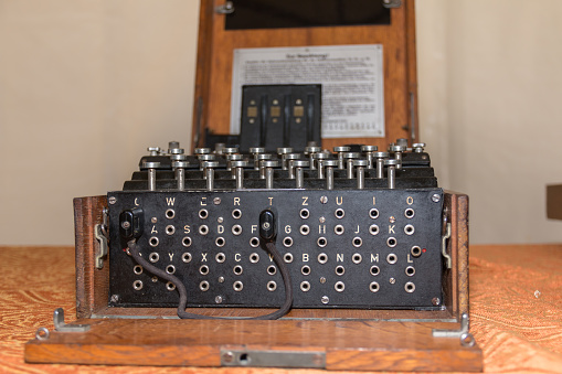 istock The Enigma Cipher Coding Machine from World War II 853330668