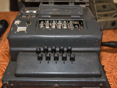 istock The Enigma Cipher Coding Machine from World War II 857874170