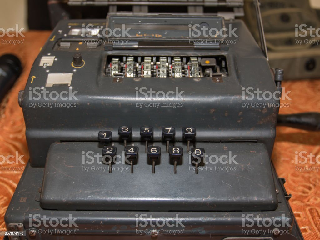 The Enigma Cipher Coding Machine from World War II stock photo