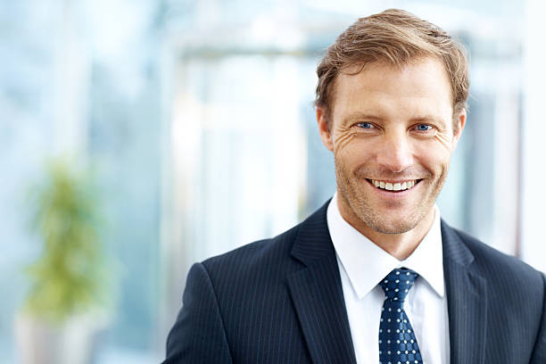 The enjoyment he gets from work is palpable stock photo