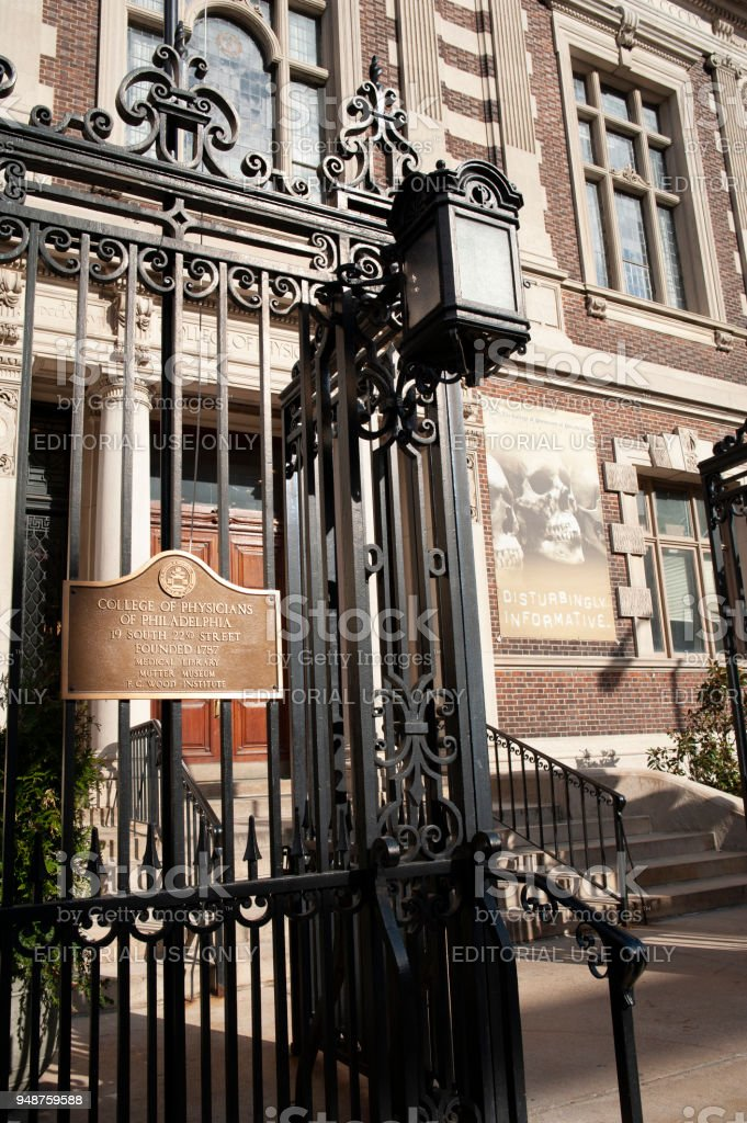 The Entrance Of Mutter Museum In Philadelphia Stock Photo & More ...