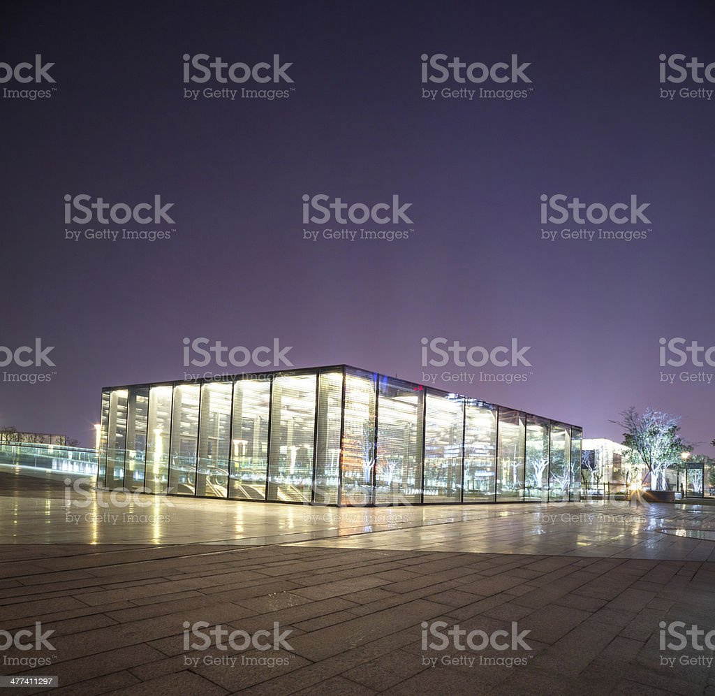 The entrance of shopping mall underground royalty-free stock photo