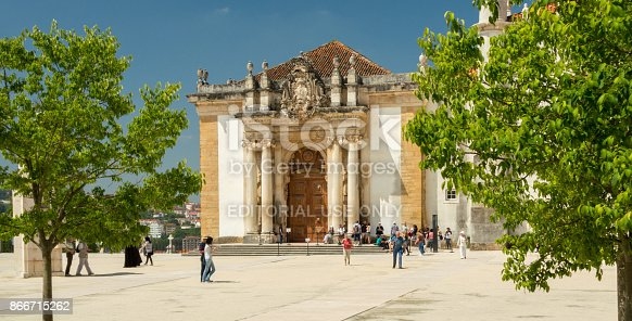 istock The entrance of the world famous library of the university of Coimbra, Portugal 866715262