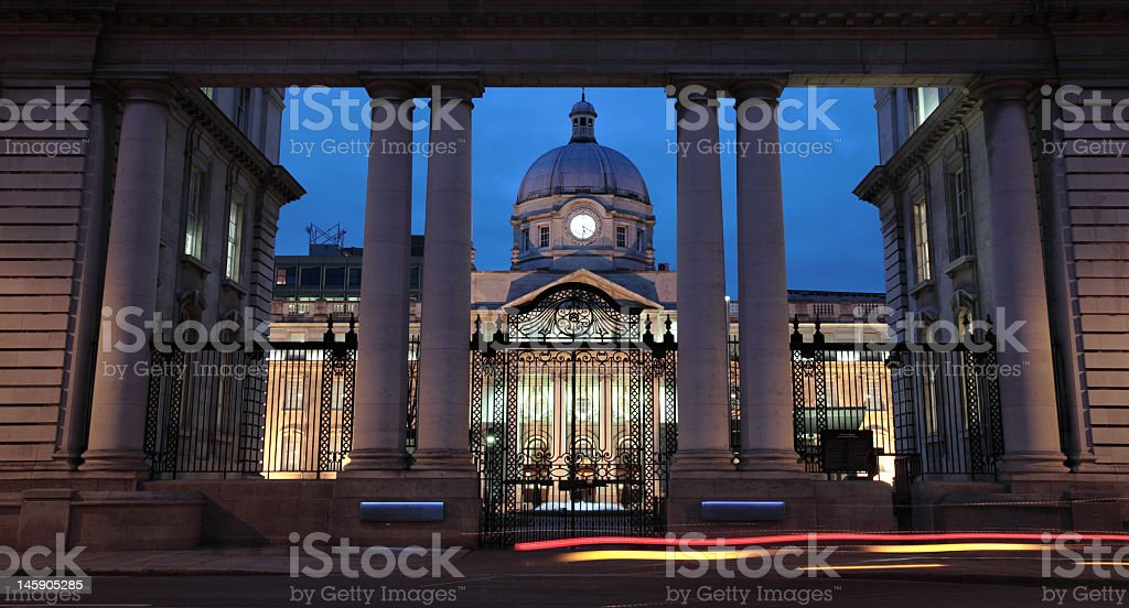 The entrance to a Government Building stock photo