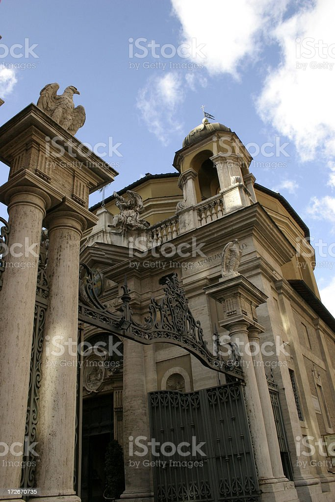 The entrance to Capella Sistina in Vatican City Rome royalty-free stock photo