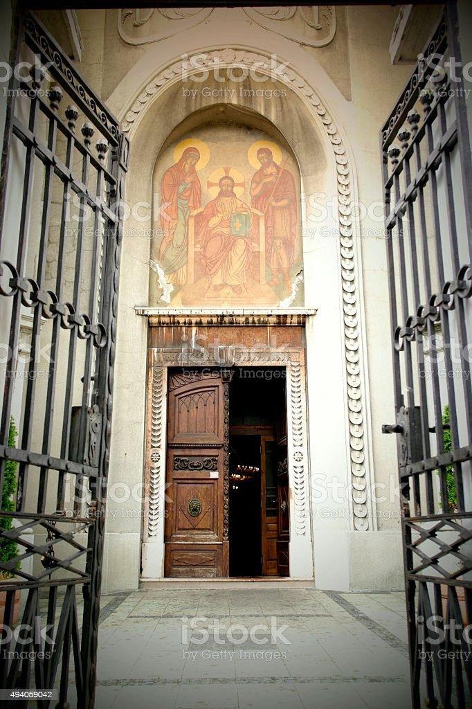 L'entrée de l'église de Pancevo - Photo