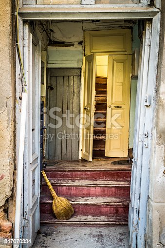 istock The entrance to the old house 847070334