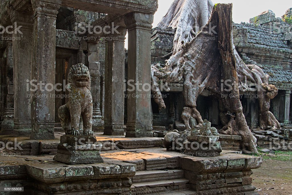 The Entry of the Preah Khan Temple, Cambodia stock photo