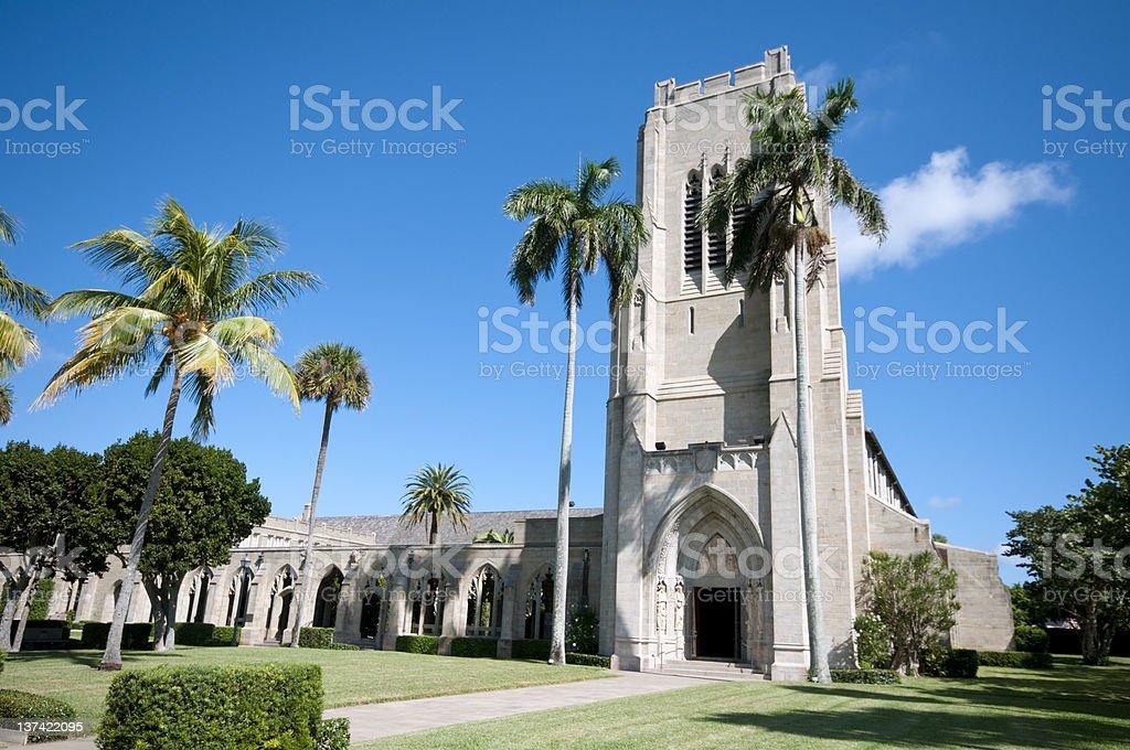 The Episcopal church in Palm Beach stock photo