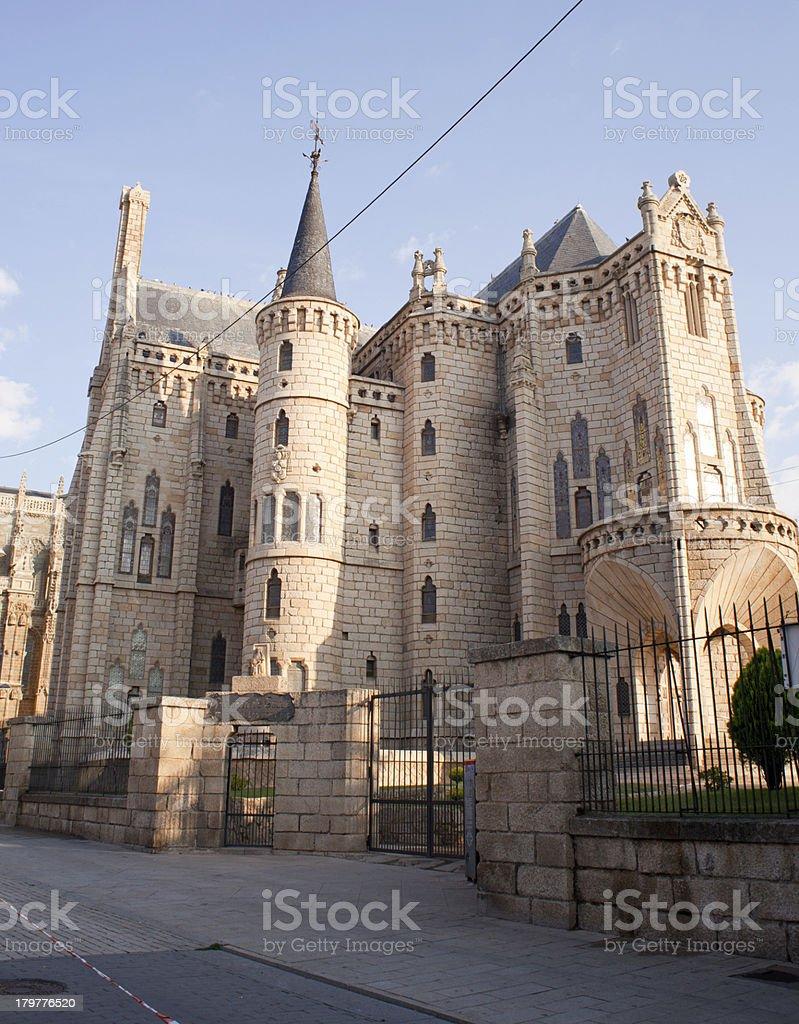 El palacio de Astorga Episcopal - foto de stock