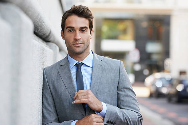 The epitome of a modern businessman stock photo