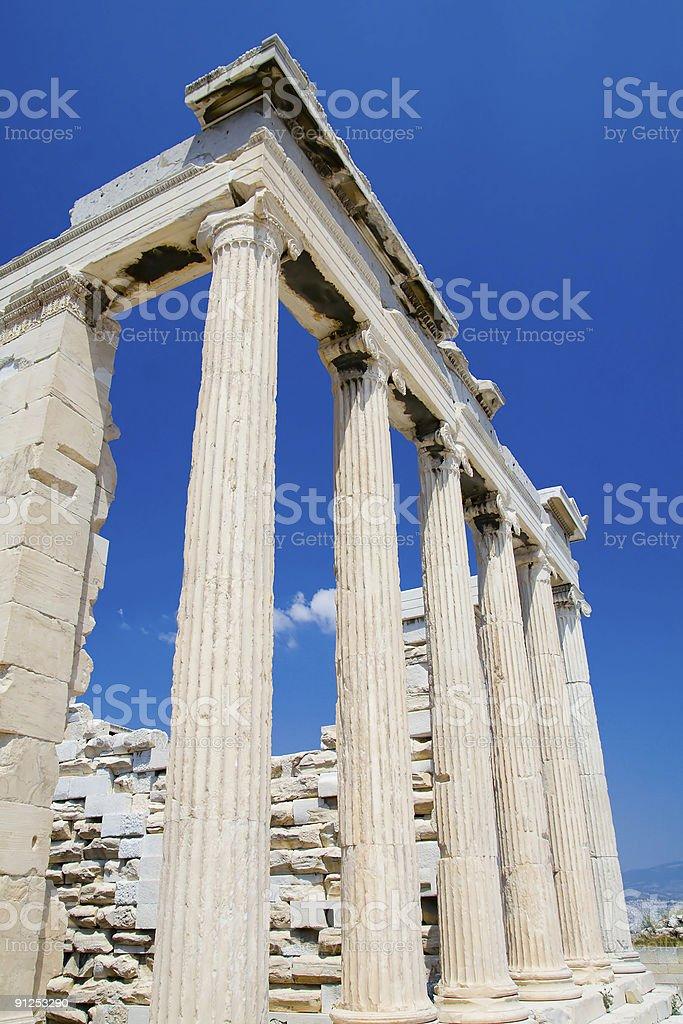 The Erechtheion, Athens - ionic columns stock photo
