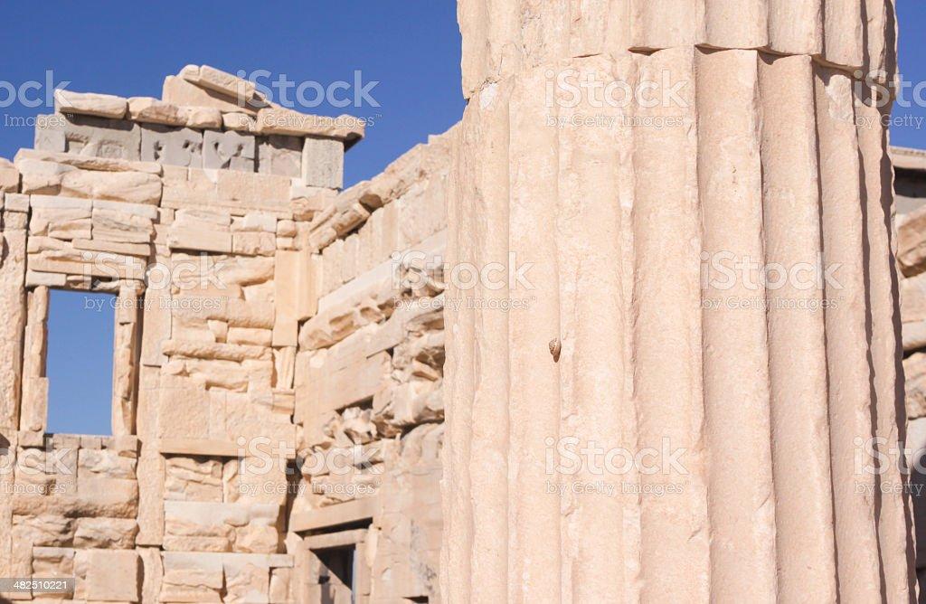 The Erechtheion in Athens, Greece royalty-free stock photo