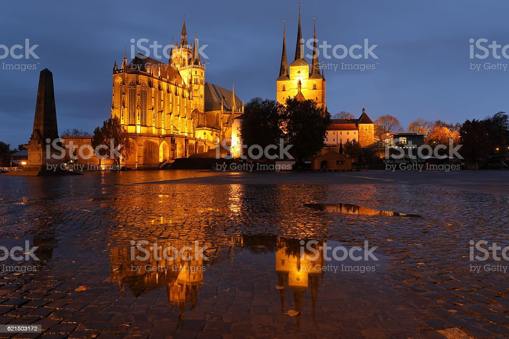The Erfurt Cathedral in Thuringia photo libre de droits