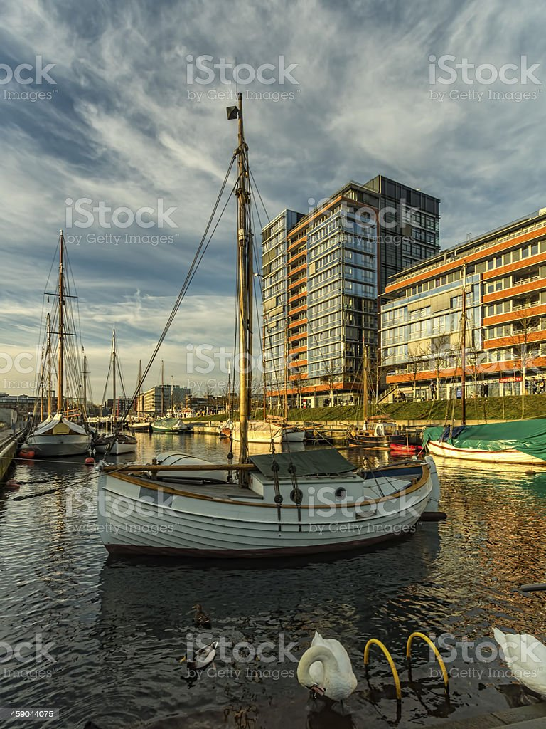 The Ernst Busch platz Kiel harbour, Germany stock photo