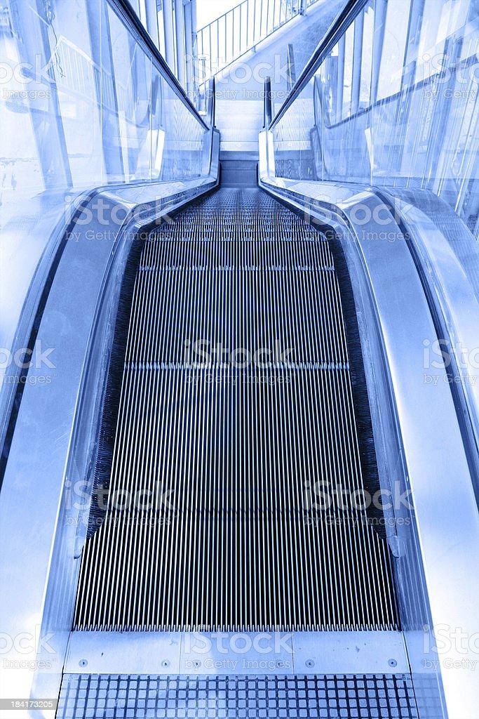 The escalator royalty-free stock photo