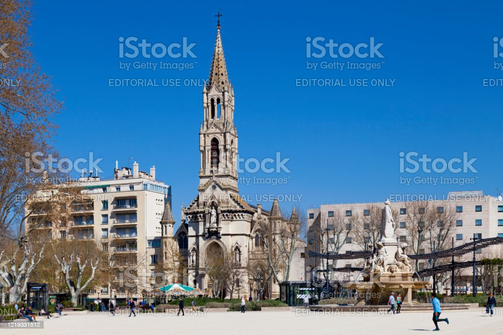 The esplanade of Nimes - Royalty-free Architecture Stock Photo