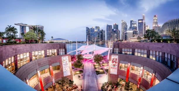 The Esplanade Theatre, Singapore stock photo