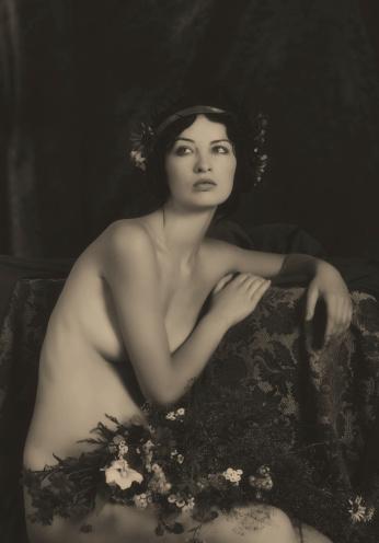 Art nouveau style stock photos