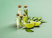 istock The essential oil of lime oil 872817984