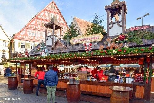 istock The Esslingen Medieval Market and Christmas Market. 1195182770